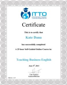 Online TBE Certificate